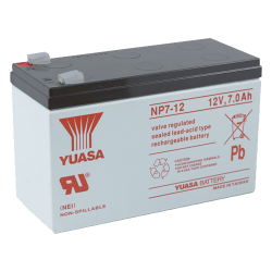 07.02.0147_NP7-12_12V_7AH_YUASA_LEAD_ACID_BATTERY_PALS_SIZE_D_CONNECTOR