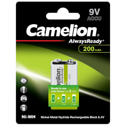 09.20.0009_9V_CAMELION_ALWAYS_READY_200_RECHARGEABLE_BATTERY_PALS